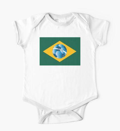 Brazil flag with ball One Piece - Short Sleeve