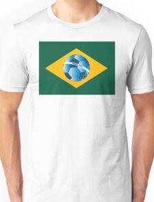 Brazil flag with ball Unisex T-Shirt