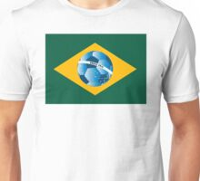 Brazil flag with ball Unisex T-Shirt