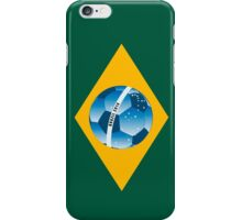 Brazil flag with ball iPhone Case/Skin