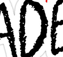 Faded <3 - Black Sticker