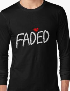 Faded <3 - White Long Sleeve T-Shirt