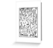 Warped Doodles Greeting Card