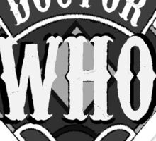 Sons of Anarchy meets Doctor Who Mash Up Sticker