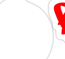 No Love - White Sticker