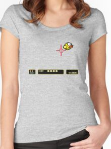 Flappy Bird Hunt Women's Fitted Scoop T-Shirt