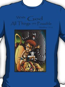 David & Lion (With God all things are Possible) T-Shirt