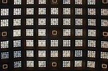 Ceiling of windows in Central Station - Brussels by Arie Koene
