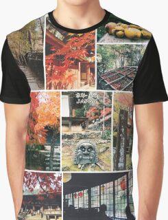Kyoto Japan Takao Jingo-ji & Kozan-ji Autumn Collage Graphic T-Shirt