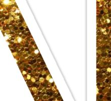 Delta Gamma Gold Glitter Sticker