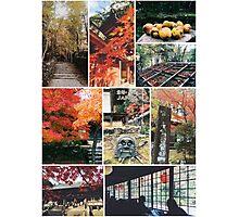 Kyoto Japan Takao Jingo-ji & Kozan-ji Autumn Collage Photographic Print