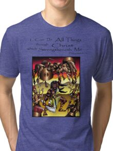 Sampson (All Things are Possible Through Christ) Tri-blend T-Shirt