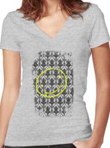 SMILE ♥ Women's Fitted V-Neck T-Shirt