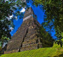 Guatemala. Tikal. Piramid of Jaguar. by vadim19