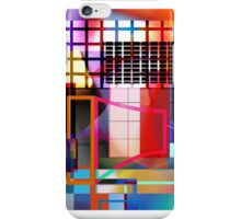 Grid 4-Section/Pink iPhone Case/Skin