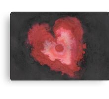 Ink Heart Canvas Print