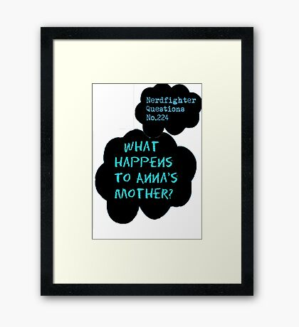 What Happens Framed Print