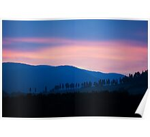 Tuscany silent evening Poster
