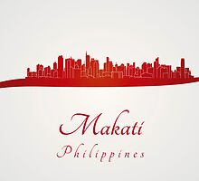 Makati skyline in red by paulrommer