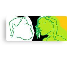 The conversation -(090214)- Digital artwork/MS Paint Canvas Print