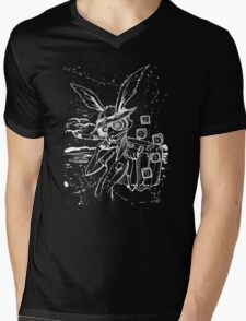 Down The Rabbit Hole (white) Mens V-Neck T-Shirt