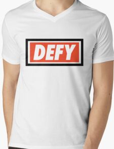 DEFY - Original Mens V-Neck T-Shirt