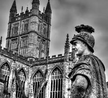 Bath Abbey & Statue by AndyHuntley