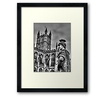 Bath Abbey & Statue Framed Print