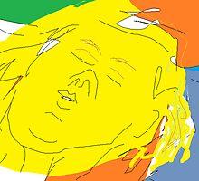 Female head: Girl asleep -(090214)- Digital artwork/MS Paint by paulramnora