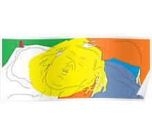Female head: Girl asleep -(090214)- Digital artwork/MS Paint Poster