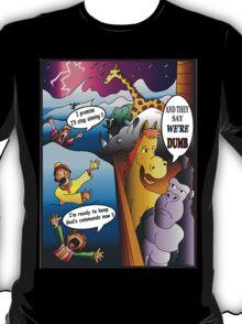 Funny Noah's Ark Animal Cartoon T-Shirt