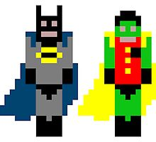 Pixel Batman and Robin by SoutarHero