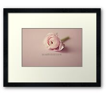 There is no remedy for love  Framed Print