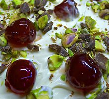 Pistachio & Cherry Cheesecake by Mark Haynes Photography