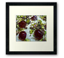 Pistachio & Cherry Cheesecake Framed Print