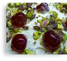 Pistachio & Cherry Cheesecake Canvas Print