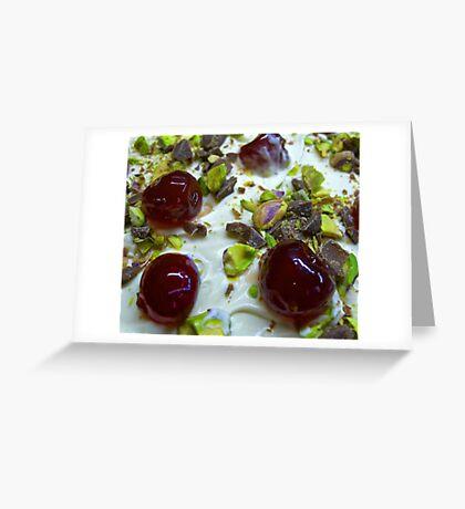 Pistachio & Cherry Cheesecake Greeting Card