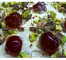 Pistachio & Cherry Cheesecake Photographic Print