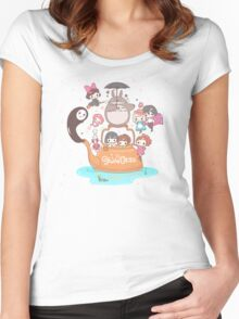 love it ghibli studio Women's Fitted Scoop T-Shirt