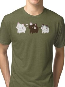 Kitty Trio Tri-blend T-Shirt