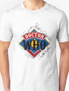 Doctor Who Autographs around a Logo T-Shirt