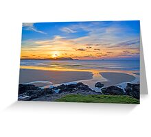Polzeath Cornwall Sunset Greeting Card