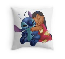 Cute Lilo and Stitch Throw Pillow