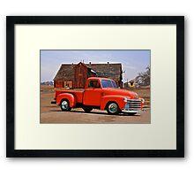 1953 Chevrolet 'Tomato' Truck Framed Print