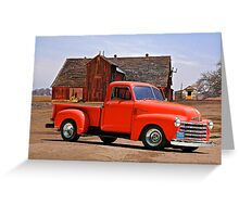 1953 Chevrolet 'Tomato' Truck Greeting Card