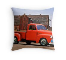 1953 Chevrolet 'Tomato' Truck Throw Pillow