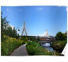 Boston overpass Cambridge View Poster