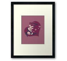 Prancing for Love Framed Print