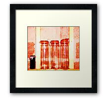 Red Jars- Unique Photography  Framed Print