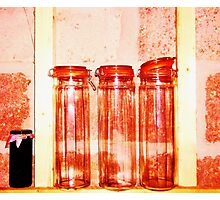 Red Jars- Unique Photography  Photographic Print